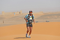4th October 2021; Tisserdimine to Kourci Dial Zaid;  Marathon des Sables, stage 2 of  a six-day, 251 km ultramarathon, which is approximately the distance of six regular marathons. The longest single stage is 91 km long. This multiday race is held every year in southern Morocco, in the Sahara Desert. Yonnatan Rivas Venegas (COL)