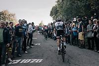 Simon Geschke (DEU/Sunweb) up the infamous Muro di Sormano (avg 17%/max 25%)<br /> <br /> Il Lombardia 2017<br /> Bergamo to Como (ITA) 247km