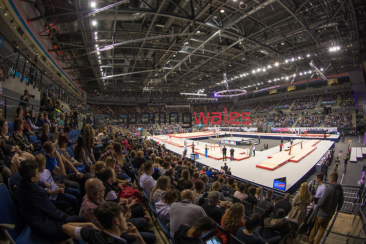 British Gymnastics Championships 2017<br /> The Liverpool Echo Arena<br /> A general view of a packed Echo Arena.<br /> 25.03.17<br /> ©Steve Pope - Sportingwales