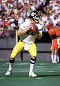 Pittsburgh Steelers Terry Bradshaw (12) during a game from his 1973 season with the Pittsburgh Steelers. Terry Bradshaw played 14 years, all for the Pittsburgh Steelers, was a 3-time Pro Bowler, 1-time first team Pro Bowler and was inducted to the Pro Footbal Hall of Fame in 1989(SportPics)