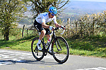 Sergei Chernetski (RUS) Gazprom-Rusvelo from the breakaway climbs La Redoute during the 107th edition of Liege-Bastogne-Liege 2021, running 259.1km from Liege to Liege, Belgium. 25th April 221.  <br /> Picture: Serge Waldbillig | Cyclefile<br /> <br /> All photos usage must carry mandatory copyright credit (© Cyclefile | Serge Waldbillig)