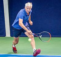 Hilversum, The Netherlands,  August 17, 2021,  Tulip Tennis Center, NKS, National Senior Tennis Championships, Men's 70+ Henk Venema (NED)<br /> Photo: Tennisimages/Henk Koster