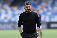 Gennaro Gattuso coach of SSC Napoli during the warm up prior to the Serie A football match between SSC Napoli and Cagliari Calcio at Diego Armando Maradona stadium in Napoli (Italy), May 02nd, 2021. <br /> Photo Cesare Purini / Insidefoto