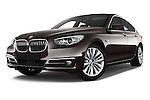 Stock pictures of low aggressive front three quarter view of 2015 BMW 5 Series 535i Gran Turismo Luxury Line 5 Door Hatchback Low Aggressive