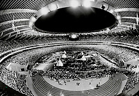1976 FILE PHOTO - ARCHIVES -<br /> <br /> Mayor Jean Drapeau snagged the '76 Olympics for Montreal and oversaw construction of an incredible sports complex; whose entrepiece was the stadium above. The deficit was skyrocketing when the Quebec governement stepped in. And Drapeau; somehow emerged a hero once more. [Incomplete]<br /> Bezant, Graham<br /> <br /> 1976<br /> <br /> PHOTO : Graham Bezant - Toronto Star Archives - AQP