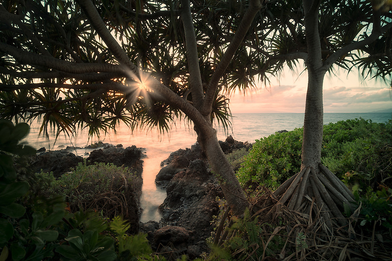 Rocky coastline with small inlet. Maui, Hawaii