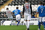 St Mirren v St Johnstone...19.10.13      SPFL<br /> Kenny McLean opens the scoring for St Mirren<br /> Picture by Graeme Hart.<br /> Copyright Perthshire Picture Agency<br /> Tel: 01738 623350  Mobile: 07990 594431
