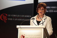 March 11 2013 - Montreal, Quebec,  CANADA  -  Heather Munroe-Blum, O.C., O.Q., Ph.D., FRSC, Principal and Vice-Chancellor of McGill University, at the Canadian Club of Montreal's podium
