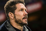 Coach Diego Simeone of Atletico de Madrid looks on during the La Liga match between Atletico de Madrid and RCD Espanyol at the Vicente Calderón Stadium on 03 November 2016 in Madrid, Spain. Photo by Diego Gonzalez Souto / Power Sport Images