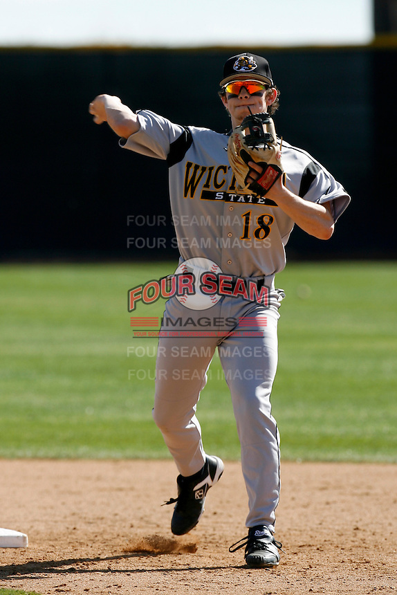 Damon Sublett of the Wichita State Shockers during a game against the Pepperdine Waves at Eddy D. Field Stadium on February 16, 2007 in Malibu, California. (Larry Goren/Four Seam Images)