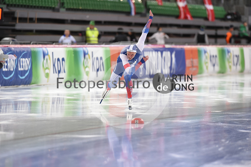 SPEED SKATING: HAMAR: Viking Skipet, 03-02-2019, ISU World Cup Speed Skating, Ruslan Zakharov (RUS), ©photo Martin de Jong
