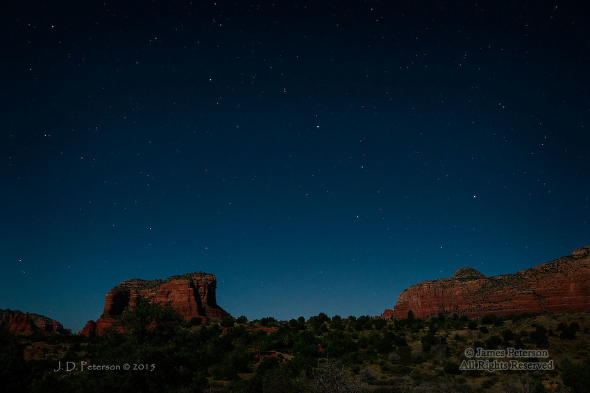 Big Dipper over Courthouse Butte