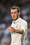 Gareth Bale of Real Madrid reacts during their La Liga match between Real Madrid CF and SD Eibar at the Santiago Bernabéu Stadium on 02 October 2016 in Madrid, Spain. Photo by Diego Gonzalez Souto / Power Sport Images