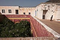 Afrique/Afrique du Nord/Maroc/Env d' Immouzer-Ida-Outanane: Détail intérieur patio d'une ferme berbère