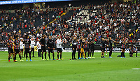 Siegesjubel Eintracht - 01.09.2019: Eintracht Frankfurt vs. Fortuna Düsseldorf, Commerzbank Arena, 3. Spieltag<br /> DISCLAIMER: DFL regulations prohibit any use of photographs as image sequences and/or quasi-video.