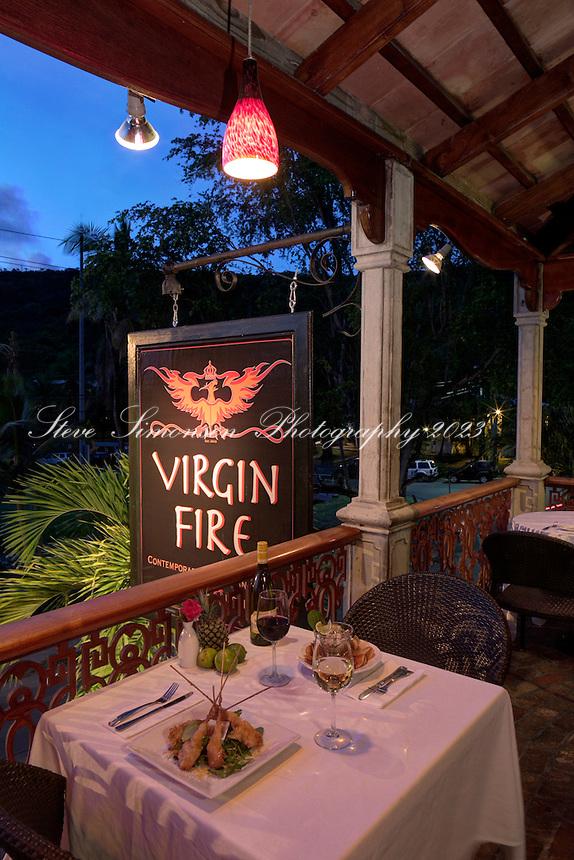 Virgin Fire restaurant<br /> Mongoose Junction, Cruz Bay<br /> St. John<br /> U.S. Virgin Islands