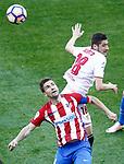 Atletico de Madrid's Gabi Fernandez (l) and Sevilla FC's Sergio Escudero during La Liga match. March 19,2017. (ALTERPHOTOS/Acero)