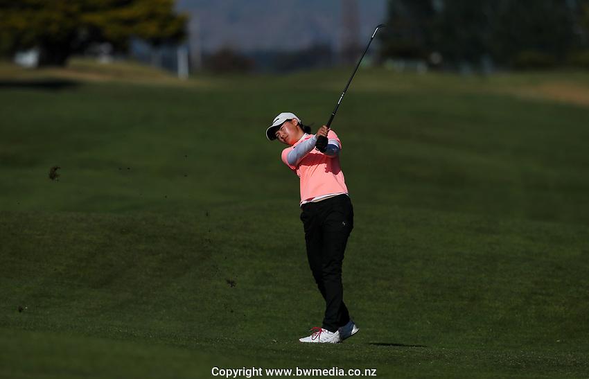 Anna An during the New Zealand Amateur Golf Championship, Poverty Bay Golf Course, Awapuni Links, Gisborne, Saturday 24 October 2020. Photo: Simon Watts/www.bwmedia.co.nz