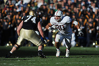 South Bend, IN - OCTOBER 4:  Defensive end Erik Lorig #80 of the Stanford Cardinal during Stanford's 28-21 loss against the Notre Dame Fighting Irish on October 4, 2008 at Notre Dame Stadium in South Bend, Indiana.