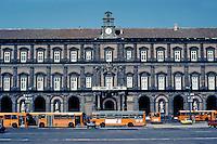 Italy: Naples--Royal Palace, elevation. 1600-1650. Designer, Domenko Fontana. Photo '83.