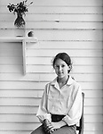 Scan from vintage print. File #80-209. BW; Black and white; <br /> Kirsten Wild at age 13 years. 1980; 1 of 1