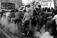Funeral del estudiante  Ronald Wood asesinado el 20 de mayo de l986 en una Jornada por la Democracia, por la tarde Wood junto a un grupo de estudiantes particip√≥ en manifestaciones. Militares que controlaban la manifestaci√≥n dispararon hiriendo mortalmente a Ronald Wood.<br /> Santiago Chile 25 mayo 1986<br /> <br /> Forty years ago, on September 11, 1973, a military coup led by General Augusto Pinochet toppled the democratic socialist government of Chile. President Salvador Allende was killed during the  attack to seize  La Moneda presidential palace.  In the aftermath of the coup, a quarter of a million people were detained for their political beliefs, 3000 were killed or disappeared and many thousands were tortured.<br /> Some years later in 1981, while Pinochet ruled Chile with iron fist, a young photographer called Juan Carlos Caceres started to freelance in the streets of Santiago and the poblaciones or poor outskirts, showing the growing resistance against the dictatorship. For the next 10 years Caceres photographed every single protest and social movement fighting for the restoration of democracy. He knew that his camera was his only weapon, he knew that his fate was to register the daily violence and leave his images for the History.<br /> In this days Caceres is working to rescue and organize his collection of images in the project Imagenes de la Resistencia   . With support of some Chilean official institutions, thousands of negatives are digitalized and organized to set up the more complete visual heritage of this  violent period of Chile´s history.