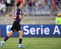 Federico Chiesa of Fiorentina celebrates after scoring goal of 3-1 <br /> Firenze 19/08/2019 Stadio Artemio Franchi <br /> Football Italy Cup 2019/2020 <br /> ACF Fiorentina - Monza  <br /> Foto Andrea Staccioli / Insidefoto