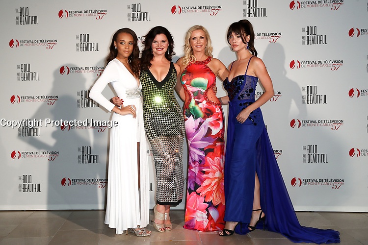 Monte-Carlo, Monaco, 18/06/2017 - 30th Anniversary of 'The Bold and the Beautiful' party Arrival Photocall at the Monte-Carlo Bay, Monaco, during the 57th Monte-Carlo Television Festival. The Bold and the Beautiful Cast. # 30EME ANNIVERSAIRE DE 'AMOUR, GLOIRE ET BEAUTE'