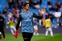 Thibaut Courtois of Real Madrid during La Liga match between Real Madrid and Atletico de Madrid at Santiago Bernabeu Stadium in Madrid, Spain. February 01, 2020. (ALTERPHOTOS/A. Perez Meca)<br /> 01/02/2020 <br /> Liga Spagna 2019/2020 <br /> Real Madrid - Atletico Madrid  <br /> Foto Alterphotos / Insidefoto <br /> ITALY ONLY
