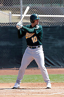 Grant Desme - Oakland Athletics - 2009 spring training.Photo by:  Bill Mitchell/Four Seam Images