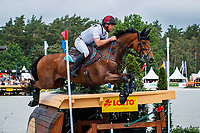 AUS-Kevin McNab rides Scuderia 1918 Don Quidam during the Cross Country for the Meßmer Trophy mit Deutscher Meisterschaft CCI4*-S. Interim-8th. The Longines Luhmuehlen International Horse Trials. Salzhausen, Germany. Saturday 15 June. Copyright Photo: Libby Law Photography