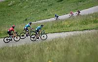 a split up breakaway group up the Col du Pré (HC/1748m/12.6km@7.7%)<br /> <br /> 73rd Critérium du Dauphiné 2021 (2.UWT)<br /> Stage 7 from Saint-Martin-le-Vinoux to La Plagne (171km)<br /> <br /> ©kramon