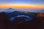 Sunrise on top of Gunung Rinjani (3726 m), Lombok, Indonesia, 2002.