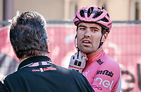 Maglia Rosa Tom Dumoulin (NED/Sunweb) post-stage <br /> <br /> Stage 15: Valdengo › Bergamo (199km)<br /> 100th Giro d'Italia 2017