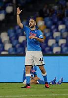 Kostantinos Manolas of Napoli 11th September 2021; Maradona Stadium, Naples, Italy; Serie A football, SSC Napoli versus Juventus  FC: Manolas of Napoli questions a decision