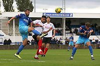 Ahmet Rifat of Wingate & Finchley and Aaron Cosgrave of Lewes during Wingate & Finchley vs Lewes, Pitching In Isthmian League Premier Division Football at the Maurice Rebak Stadium on 3rd October 2020