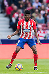 Thomas Teye Partey of Atletico de Madrid during the La Liga 2017-18 match between Atletico de Madrid and Girona FC at Wanda Metropolitano on 20 January 2018 in Madrid, Spain. Photo by Diego Gonzalez / Power Sport Images