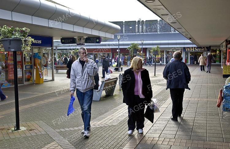 Shoppers in Birkenhead Merseyside.