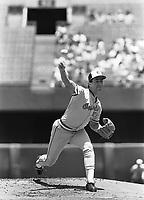 Mike Boddicker of the Baltimore Orioles during a 1988 season game at Anaheim Stadium,in Anaheim,California.(Larry Goren/Four Seam Images)