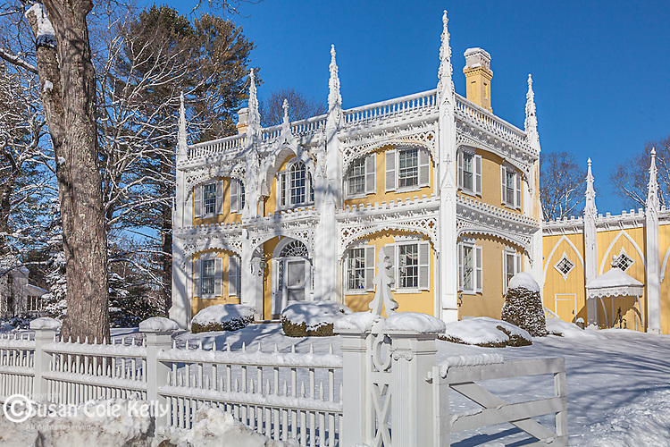 The Wedding Cake House in Kennebunkport, ME, USA