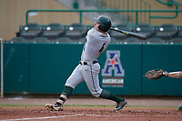 Dartmouth Big Green second baseman Sean Sullivan (4) follows through on a swing during a game against the USF Bulls on March 17, 2019 at USF Baseball Stadium in Tampa, Florida.  USF defeated Dartmouth 4-1.  (Mike Janes/Four Seam Images)