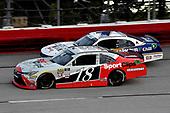 #18: Denny Hamlin, Joe Gibbs Racing, Toyota Camry SportClips and #1: Elliott Sadler, JR Motorsports, Chevrolet Camaro Armour Chili