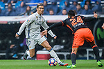 Cristiano Ronaldo (l) of Real Madrid battles for the ball with Ezequiel Garay of Valencia CF during their La Liga match between Real Madrid and Valencia CF at the Santiago Bernabeu Stadium on 29 April 2017 in Madrid, Spain. Photo by Diego Gonzalez Souto / Power Sport Images