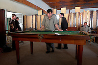 A battered pool table at a furniture shop in Batumi..