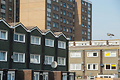 West Kensington Estate, Hammersmith & Fulham, which the council proposes to sell and demolish, together with neighbouring Gibbs Green Estate.