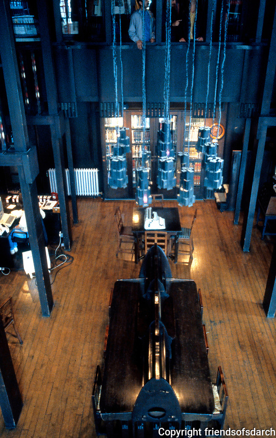C.R. Mackintosh: Glasgow Museum of Art. The Library, 1907-09. (Photo '87)