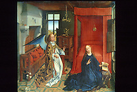 Paintings:  Van der Weyden (1399-1464) --L'Annunciation.  Louvre.  Reference only.