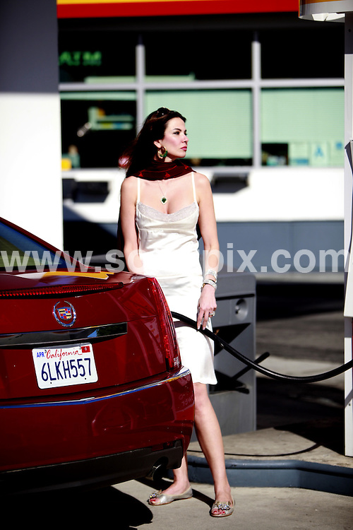**ALL ROUND PICTURES FROM SOLARPIX.COM**.**SYNDICATION RIGHTS FOR UK AND SPAIN ONLY**.MALIBU, USA: Brazilian model and TV host Luciana Morad Gimenez, who is famous for her affair with Mick Jagger in 1999 and the birth of a boy, Lucas Jagger, was pictured at a gas station in Malibu, California, where she is enjoying a vacation. .This pic:    Luciana Morad Gimenez.JOB REF:   11531     PRT        DATE:   22.06.10.**MUST CREDIT SOLARPIX.COM OR DOUBLE FEE WILL BE CHARGED**.**MUST NOTIFY SOLARPIX OF ONLINE USAGE**.**CALL US ON: +34 952 811 768 or LOW RATE FROM UK 0844 617 7637**