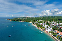 The west coast at Holetown, St. James, Barbados