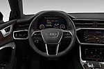 Car pictures of steering wheel view of a 2020 Audi A7 Premium-Plus 5 Door Hatchback Steering Wheel